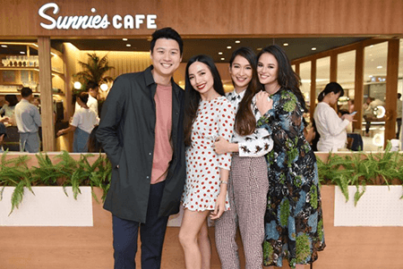 Sunnies Cafe - Directors Eric Dee and partners Bea Soriano-Dee, Martine Cajucom, and Georgina Wilson at SM Megamall Location